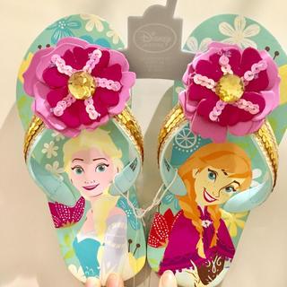 ディズニー(Disney)のアナと雪の女王 キッズ ビーチサンダル 18cm(サンダル)