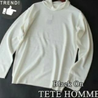 テットオム(TETE HOMME)のBlack On TETE HOMME タートルネックセーター M◎(ニット/セーター)