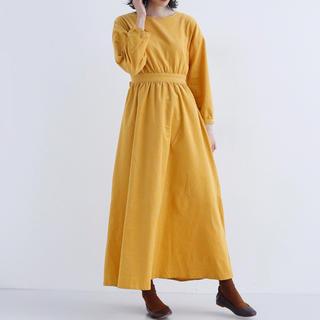 メルロー(merlot)のmerlot コーデュロイワンピース yellow(ロングワンピース/マキシワンピース)