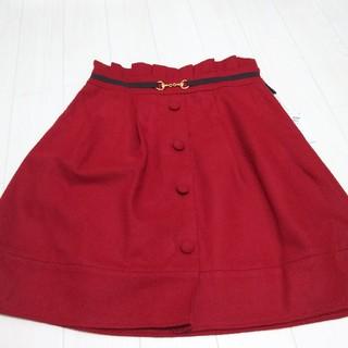 アストリアオディール(ASTORIA ODIER)の【新品】り様専用!アストリア レッドスカート  M(ひざ丈スカート)