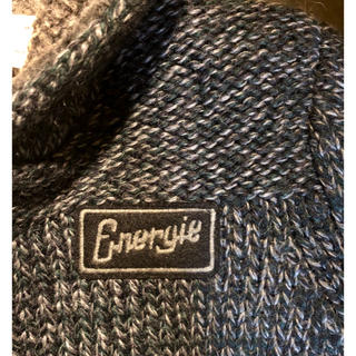 エナジー(ENERGIE)の美品イタリア エナジー バルキー ニットパーカー サイズS (ニット/セーター)