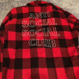 アンチ(ANTI)のASSC フランネルシャツ XLサイズ(シャツ)