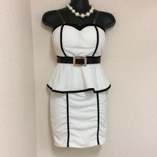 2way ベルト付 ペプラム ワンピ L(その他ドレス)