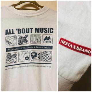 ネスタブランド(NESTA BRAND)のネスタブランド 白ロングTシャツ  ロンT  メンズ (Tシャツ/カットソー(七分/長袖))