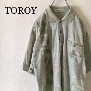 トロイ(TOROY)の古着  異素材  切替  ポロシャツ  ニット 黄緑(ポロシャツ)