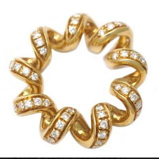 ブシュロン(BOUCHERON)の正規品 ブシュロン コイルモチーフ ペンダントトップ K18YG ダイヤモンド(ネックレス)