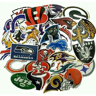 NFLアメリカンフットボールステッカー集/32枚セット:BigOFF!799円(アメリカンフットボール)