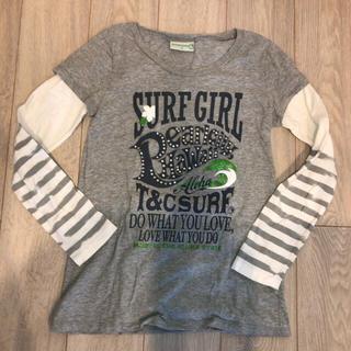 タウンアンドカントリー(Town & Country)のT&C レイヤード風長袖Tシャツ グレー サイズM(Tシャツ(長袖/七分))
