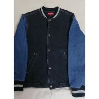 シュプリーム(Supreme)のsupreme Denim Varsity Jacket Black 正規品(Gジャン/デニムジャケット)