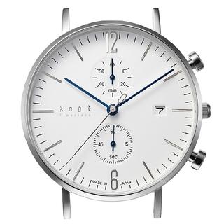 ノット(KNOT)の[限定値引] Knot 国産クォーツ・クロノグラフ 高級ラインのような青針(腕時計(アナログ))