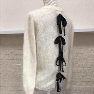 サクラ(SACRA)の新品同様UNITED ARROWS SACRA♡モヘアブレンドバックリボンニット(ニット/セーター)