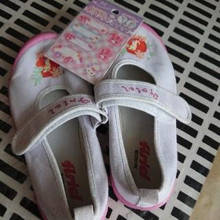 ディズニー(Disney)のくりももさん専用♡中古 上靴 アリエル ピンク 19cm(スクールシューズ/上履き)