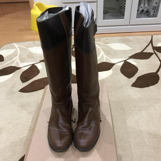 ジーナシス(JEANASIS)のジーナシス茶色切替ロングブーツ☆Lサイズ(ブーツ)