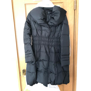 新品 ディノス ビッグカラー ダウン ジャケット ブラック Lサイズ