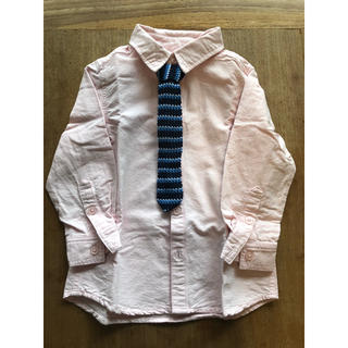 エルビーシー(Lbc)のLBC フォーマル シャツ 男の子 薄ピンク 100サイズ(Tシャツ/カットソー)