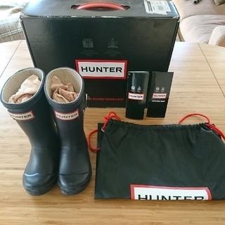 ハンター(HUNTER)の❁値下げ❁HUNTER ORIGINAL KIDS AUBERGINE UK7(長靴/レインシューズ)