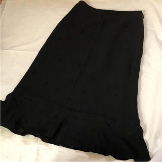 エムケークランプリュス(MK KLEIN+)のMKKLEINPLUS 花柄ブラックスカート(ロングスカート)
