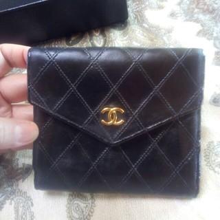 シャネル(CHANEL)のシャネルラムスキン マトラッセ ピコローレ 折財布(財布)