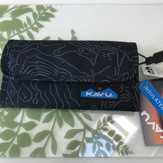カブー(KAVU)のKAVU カブー モンドスペンダー BLACK TOPO 三つ折り財布(折り財布)