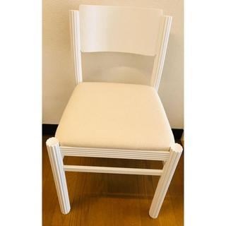 白椅子 4客セット(ダイニングチェア)