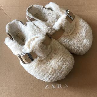 ザラキッズ(ZARA KIDS)のZARAKIDSボアスリッポン(スリッポン)