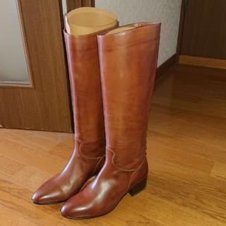 サルトル(SARTORE)のサルトル♪新品未使用ローヒールブラウンロングブーツ(ブーツ)