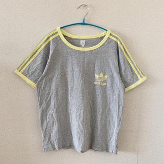 アディダス(adidas)の●adidasアディダス/ロゴマークTシャツ●ヴィンテージ古着(Tシャツ(半袖/袖なし))