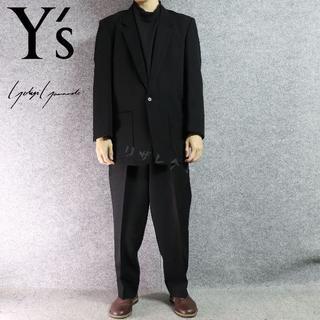 ヨウジヤマモト(Yohji Yamamoto)のYs ヨウジヤマモト ブラック セットアップ テーパード  ロングジャケット(その他)