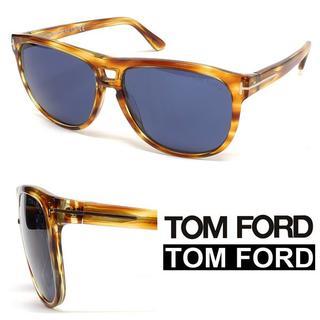 トムフォード(TOM FORD)の21TOM FORD ブラウン×イエローミックスカラーサングラス(サングラス/メガネ)