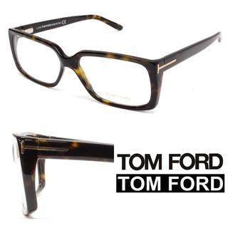 トムフォード(TOM FORD)の5TOM FORD鼈甲柄 ブラウン×ブラック スクエアメガネ(サングラス/メガネ)