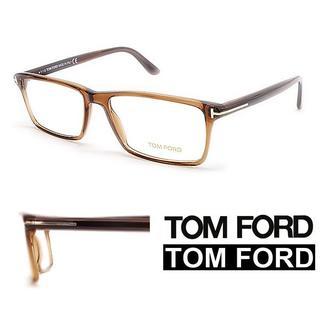 トムフォード(TOM FORD)の8TOM FORDブラウン系 スクエア メガネフレーム (サングラス/メガネ)