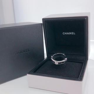 シャネル(CHANEL)のCHANEL♡ウルトラリング ブラックセラミック1Pダイヤモンド(リング(指輪))