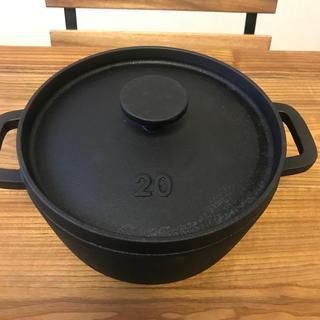 ムジルシリョウヒン(MUJI (無印良品))のMUJI鍋  ダッチオーブン 20㎝  (鍋/フライパン)