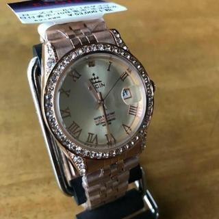 エルジン(ELGIN)の新品✨エルジン ダイヤ使用 クオーツ レディース 腕時計FK1402PG-CH(腕時計)