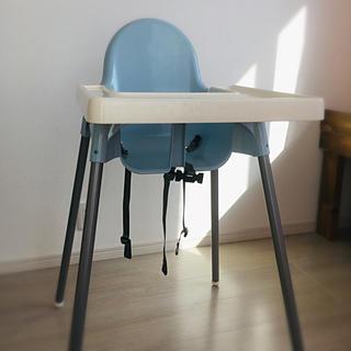 イケア(IKEA)の(IKEA)ハイチェア★sky blue(ダイニングチェア)