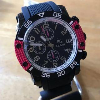 エルジン(ELGIN)の新品✨エルジン ELGIN クオーツ クロノ メンズ 腕時計 EG-001-P(腕時計(アナログ))