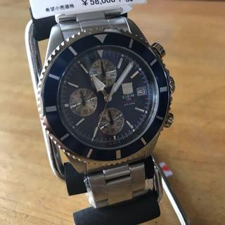 エルジン(ELGIN)の新品✨エルジン ELGIN クロノ クオーツ 腕時計 FK1418S-BL(腕時計(アナログ))