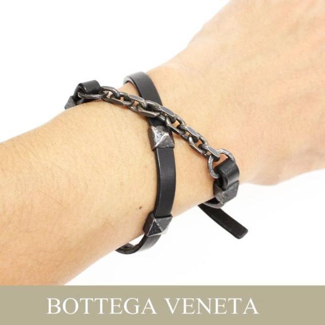 Bottega Veneta(ボッテガヴェネタ)の15BOTTEGA VENETAダブルループ ブレスレット メンズのアクセサリー(ブレスレット)の商品写真