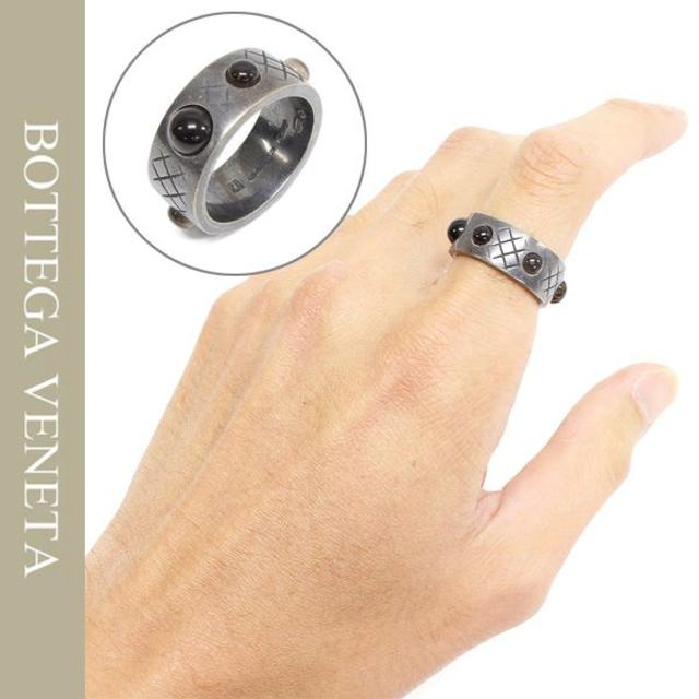 Bottega Veneta(ボッテガヴェネタ)の12BOTTEGA VENETAシルバー×スモーキークオーツリング メンズのアクセサリー(リング(指輪))の商品写真