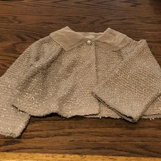 パタシュー(PATACHOU)のPATACHOU パタシュー 100センチ シルバーラメジャージーニットボレロ(ドレス/フォーマル)