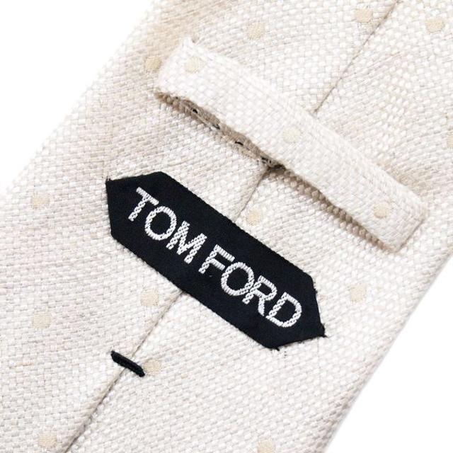 TOM FORD(トムフォード)の84 TOMFORDアイボリー SILK混合 ネクタイ メンズのファッション小物(ネクタイ)の商品写真