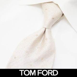 トムフォード(TOM FORD)の84 TOMFORDアイボリー SILK混合 ネクタイ(ネクタイ)