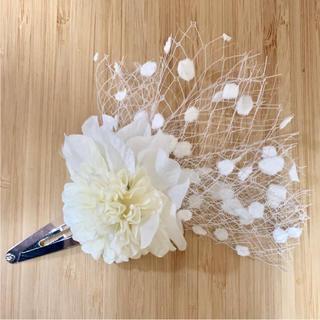 toytoy226 髪飾り パッチンどめ ピン ヘアピン ホワイト(ヘアアクセサリー)