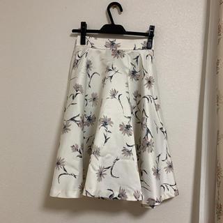 エベルモーション(EBELE MOTION)の花柄スカート(ひざ丈スカート)