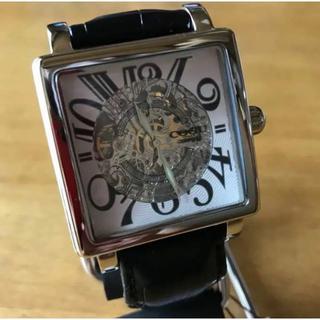 コグ(COGU)の新品✨コグ COGU 自動巻き メンズ スケルトン 腕時計 BS003-WH(腕時計(アナログ))
