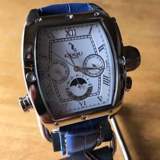 コグ(COGU)の新品✨コグ COGU 自動巻き メンズ 腕時計 C62-WBL ホワイト(腕時計(アナログ))