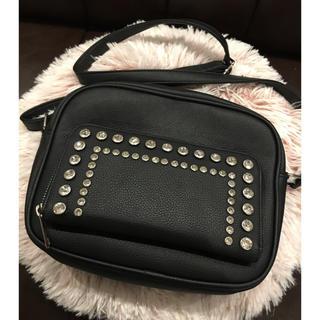 クマタン(KUMATAN)のKUMATAN ビジューショルダーバッグ お財布機能付き(ショルダーバッグ)