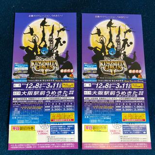木下大サーカス大阪駅前うめきた公演  開催期間中自由席ご招待券  2枚非売品(サーカス)