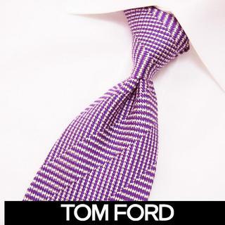 トムフォード(TOM FORD)の83TOMFORD パープル SILK ネクタイ(ネクタイ)