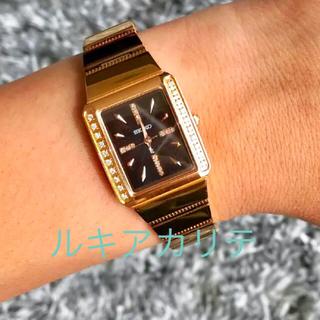 SEIKO ルキア カリテ 腕時計 ダイヤモンド ピンクゴールド セイコー